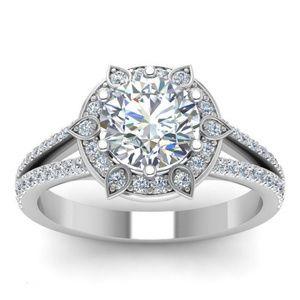 925 Silver Wedding Ring Round Cut White Sapphire